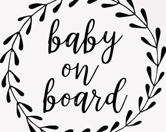 Baby On Board Decal Baby Footprints Newborn Decals Boy