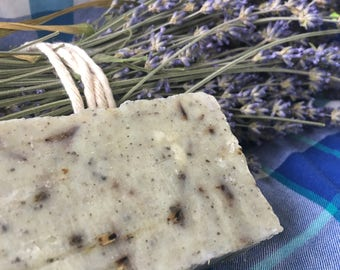 Lavender Sea Clay Soap, Hot Process Soap