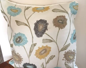 Decorative Floral Cushion Cover