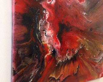 Heat explosion resin art