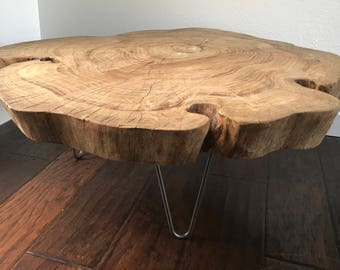 Superb Natural Raw Edge Reclaimed Wood Table