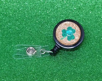 Green and gold shamrock badge reel #4