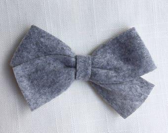 Gray felt bow