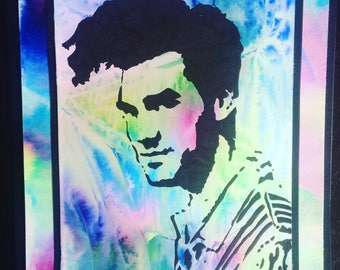 Watercolor fan Art Morrissey The Smiths