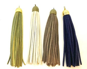 Handmade Faux Leather Tassels