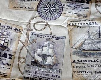 Fabric ships and sea