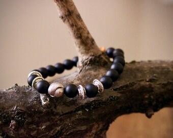 Mala Mens Bracelet-customizable-//Onyx