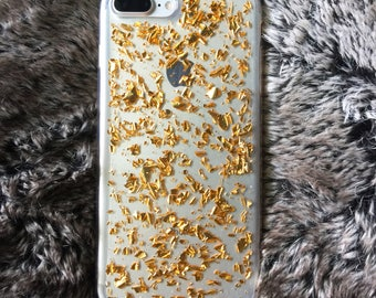 24k gold flake iphone 7/ 7 plus case