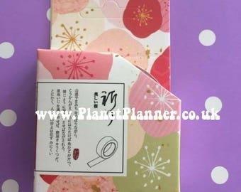 Floral Washi Tape, Pink Floral Washi, Summer Washi Tape, Pastel Washi Tape, Pastel Floral Washi, Pretty Washi Tape, Planner Washi,