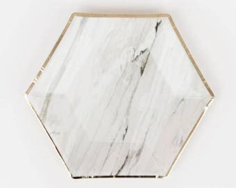 marble paper plates marble and gold party plates marble tableware party tableware