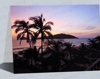 Mazatlan Sunset Greeting Cards, Mexico Sunset Cards, Sunset Art Gifts Cards, Blank Cards, Any day cards, Fine Art Card, Notecards