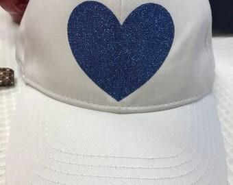 White & Blue Cap
