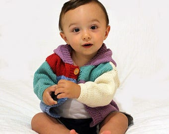 Cardigan with baby Hood