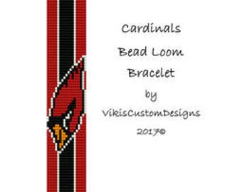 Cardinals Bead Loom Bracelet Pattern by VikisCustomDesigns