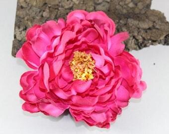 """Vintage inspired rockabilly hair flower/Hairflower """"Athena"""" pink"""