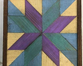 Various Reclaimed Wood Quilt Blocks