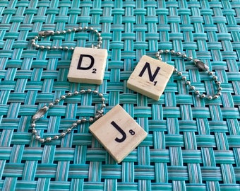 Handmade Wooden Scrabble Tile Key Chain!