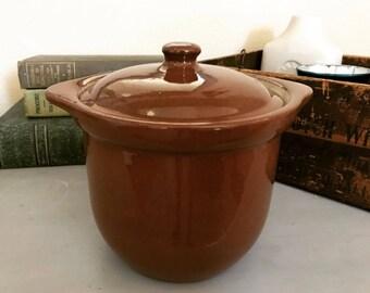 Antique Weller Redware Lidded Crock Casserole Dish