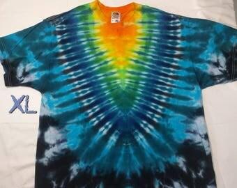 XL Rainbow V Tie Dye Shirt