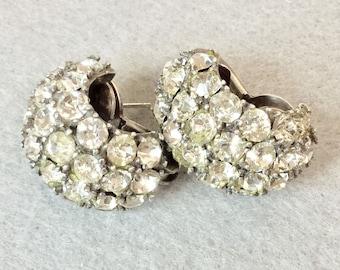 Huge Vintage .925 Sterling Silver Pennino Earrings *