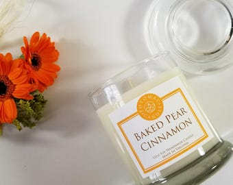 Baked Pear Cinnamon 12oz soy candle