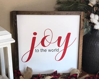 Joy to the World Sign - Christmas Sign - Joy Sign - Rustic Home Decor - Rustic Wooden Sign - Housewarming - Hand Painted Sign - Wood Sign