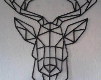 Deer head trophy