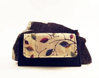MADE TO ORDER- Women's bifold wallet, slim clutch wallet, handmade- fabric cash wallet- woman's credit card wallet, checkbook wallet