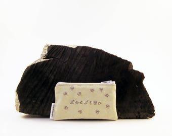 Let it go - Canvas - Coin Purse - Zipper Coin Pouch - Cute Coin Purse - Change Wallet - Zipper Bag - Card Wallet- Gift Idea-