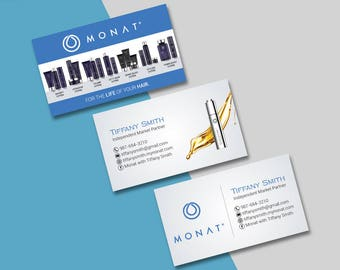 Monat Business Card, Custom Monat Business Cards, Fast Free Personalization, Custom Monat Hair Care Card MN01