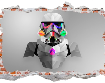 Star Wars Imperial Soldier Smashed Wall Sticker Wall Decal