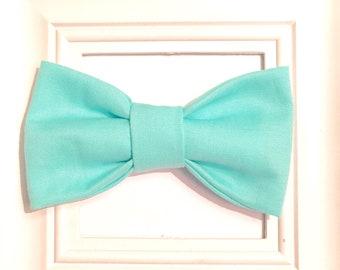 Toddler bow tie, Aqua bow tie, Teal bow tie, Boys aqua blue bow tie, Toddler Aqua bow tie, Aqua toddler boys bow tie, baby bow tie, velcro