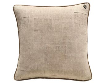 "Antique German Grain Sack Pillow from the 1800s  -  20"" x 20"""