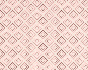 Stepping Stones Quartz, Charleston Fabric, Amy Sinibaldi, Art Gallery Fabrics, High Thread Count, Pastel Pink Cotton, Simple Pink Fabric