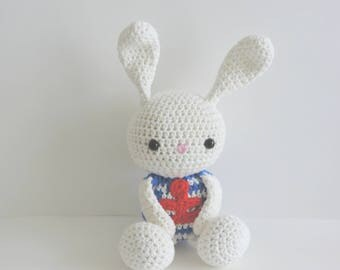 Bunny sailor anchor rabbit plush toy, toy, Bunny, crochet, handmade, stuffed amigurumi, cute animals