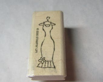 Dress Stamps, Rubber Stamps, Junk Journal Stamp, Stampin' up 2005, Womans' dress