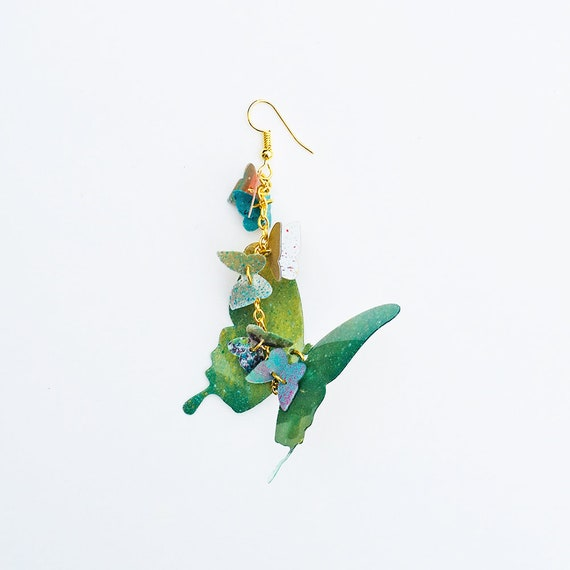 Butterflies earrings - Butterfly earrings - Jewelry & bijoux - Butterfly design - Handmade earrings - Design earrings - Butterflies jewelry