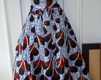 Ankara Maxi Skirt/ Maxi Skirt/ African Print Maxi skirt/ Ethnic print maxi skirt