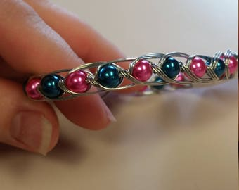 Pearl wrapped bracelet