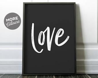 Love Print/ PRINTABLE ART/ Love typography/ Modern print/ Simple print/ Minimalist print/ Custom love print/ Love Poster/ Love Wall Art