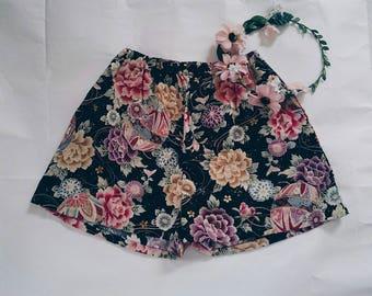China Doll Shorts - Black Oriental
