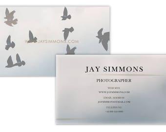 Watercolor Birds Business Card