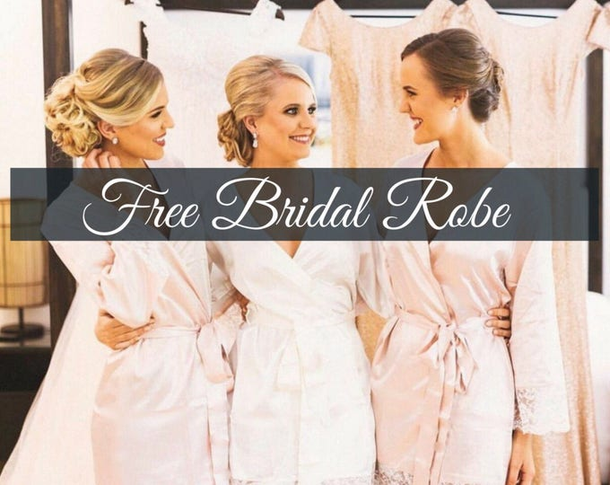 Bridesmaid Robes set of 2, Bridesmiad Robes Set of 3, Bridesmaid Robes Set of 4, Bridesmaid Robes Set of 5, Bridesmaid Robes Set of 6