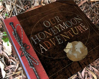 Our Honeymoon Adventure Book Handmade and Personalized