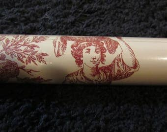 Waverly Home Classics Red White Romantic Print Wall Paper~One Double Roll~Burro~Village~Maiden