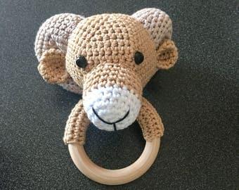 Aries crochet rattle