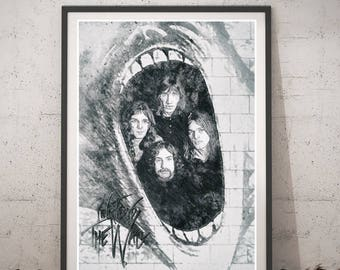 Pink Floyd The Wall Art pink floyd posters | etsy
