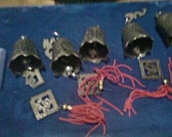 Asian Bells & Pagoda tops Broken Set For Craft Project