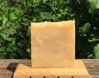 Dandelion Tea Soap (Handmade Soap, Scented with Tea Tree and Citrus, Refreshing Scent, Made with Dandelion Tea)