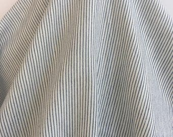 17-221 Blue Striped Linen and Cotton - Sold by the Yard